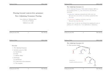 Parsing beyond context-free grammar: Tree Adjoining Grammar ...