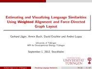 Estimating and Visualizing Language Similarities Using Weighted ...