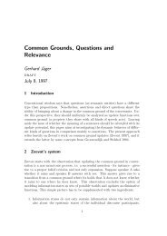 Common Grounds, Questions and Relevance - Semantics Archive