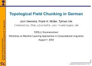 Topological Field Chunking in German