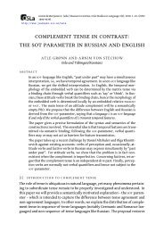 complement tense in contrast: the sot parameter in russian and english