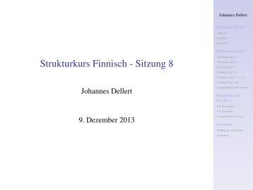 Strukturkurs Finnisch - Sitzung 8