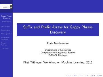 Suffix and Prefix Arrays for Gappy Phrase Discovery