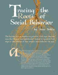 21. Tracing the Roots of Social Behavior - San Francisco State ...