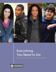 Everything You Need to Do - San Francisco State University
