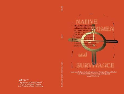 NATIVE WOMEN and SURVIVANCE - San Francisco State University