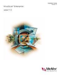 VirusScan Enterprise 7.1.0 Installation Guide