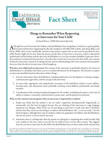 Things to Remember When Requesting an Intervener For Your Child