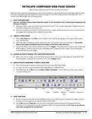 NETSCAPE COMPOSER WEB PAGE DESIGN