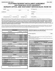 california resident installment agreement fall 2012 - San Francisco ...