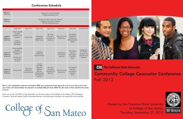 Community College Counselor Conference Fall 2012