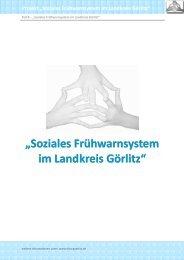 Teil B: Soziales Frühwarnsystem im Landkreis Görlitz - SFWS