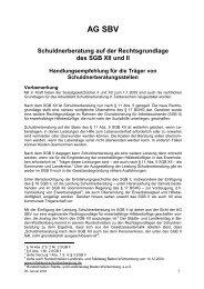 Handlungsempfehlung der AG SBV für die Träger von ...