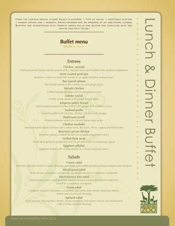 Buffet Dinners
