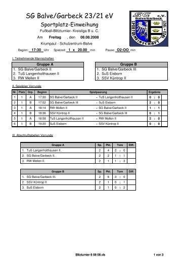 Ergebnisse zum Download - SG Balve/Garbeck