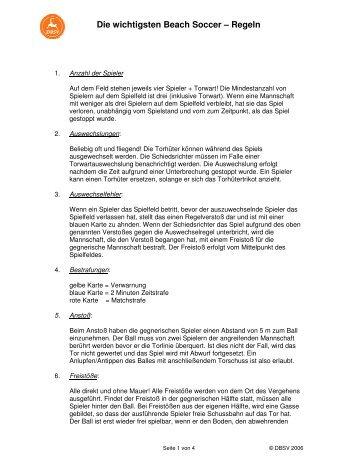 Die wichtigsten Beach Soccer – Regeln - SG Balve/Garbeck