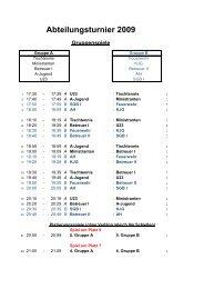 Abteilungsturnier 2009 - SG Bettringen