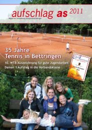 aufschlag as2011 - SG Bettringen