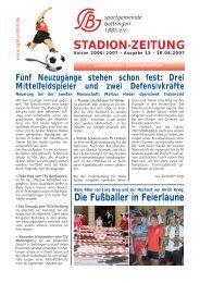 STADION-ZEITUNG - SG Bettringen