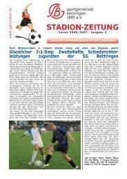 Stadion-Zeitung Ausgabe 2 - SG Bettringen