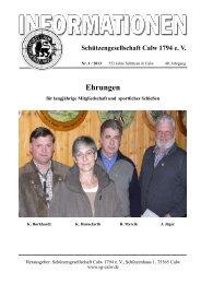 Schützenzeitung Februar 2013 - Schützengesellschaft Calw 1794 e.V.