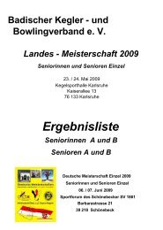 Senioren A Landesmeisterschaft 2009 - SG Ettlingen