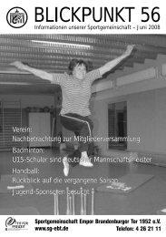Blickpunkt 56 a web - SG Empor Brandenburger Tor 1952 e.V.