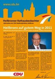 Informationen der CDU-Stadtratsfraktion Heilbronn · www.cdu.hn