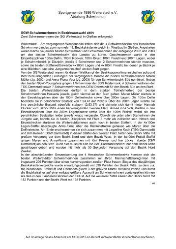 zum Bericht - SG Weiterstadt