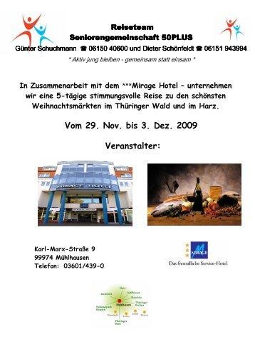 Adventsstimmung in Thüringen - SG Weiterstadt