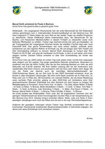 Bericht - SG Weiterstadt
