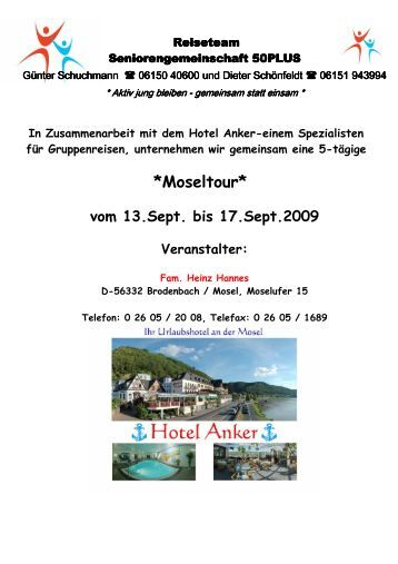 Septemberwoche an der Mosel - SG Weiterstadt