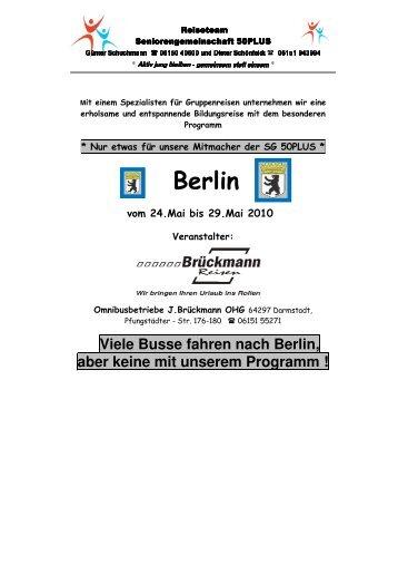 Bildungs- und Erlebnisreise Berlin - SG Weiterstadt