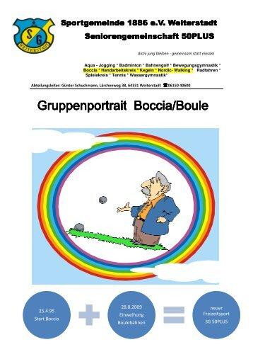 Gruppenportrait Boccia/Boule - SG Weiterstadt