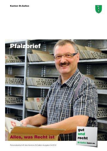 Pfalzbrief Nr. 04/2012 (2688 kB, PDF) - Kanton St.Gallen