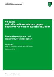10 Jahre Massnahmen Häusliche Gewalt.pdf - Kanton St.Gallen