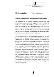 Medienmitteilung Stadt St.Gallen (22 kB, PDF) - Kanton St.Gallen