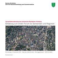 Einladung (3276 kB, PDF) - Kanton St. Gallen