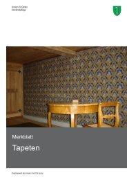 Tapeten Merkblatt Kopie.indd - Kanton St.Gallen