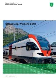 Öffentlicher Verkehr 2013 - Kanton St. Gallen