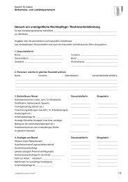 Unentgeltliche Rechtspflege und ... - Kanton St. Gallen