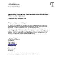 Empfehlungen zum Ausschluss von infektiös ... - Kanton St.Gallen