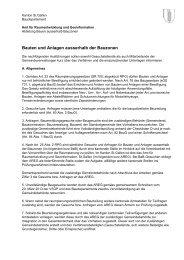 Bauten und Anlagen ausserhalb der Bauzonen - Kanton St.Gallen