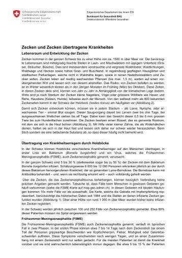 Zecken und Zecken übertragene Krankheiten - Bundesamt für ...