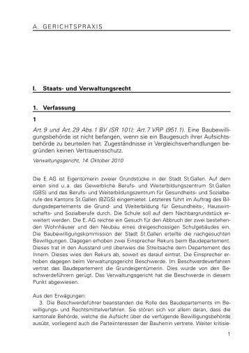Gerichtsentscheide 1 bis 328 (1851 kB, PDF) - Kanton St.Gallen