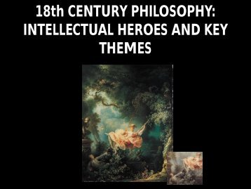 18th CENTURY PHILOSOPHY: INTELLECTUAL HEROES AND ...