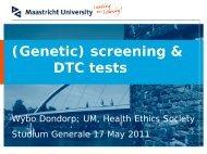 (Genetic) screening & DTC tests - Studium Generale