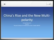 China's Rise and the New Multi-polarity
