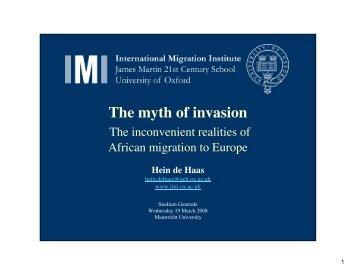 The myth of invasion - Studium Generale - Maastricht University
