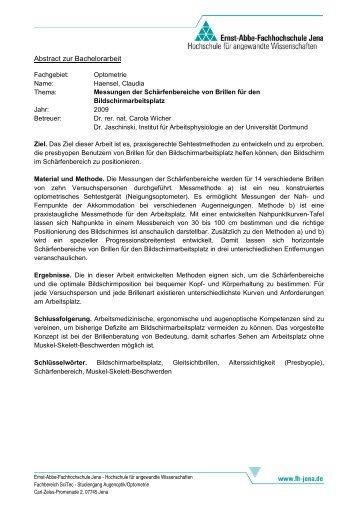 14. Augenoptischen Kolloquium - Studiengänge Augenoptik ...  14. Augenoptisc...